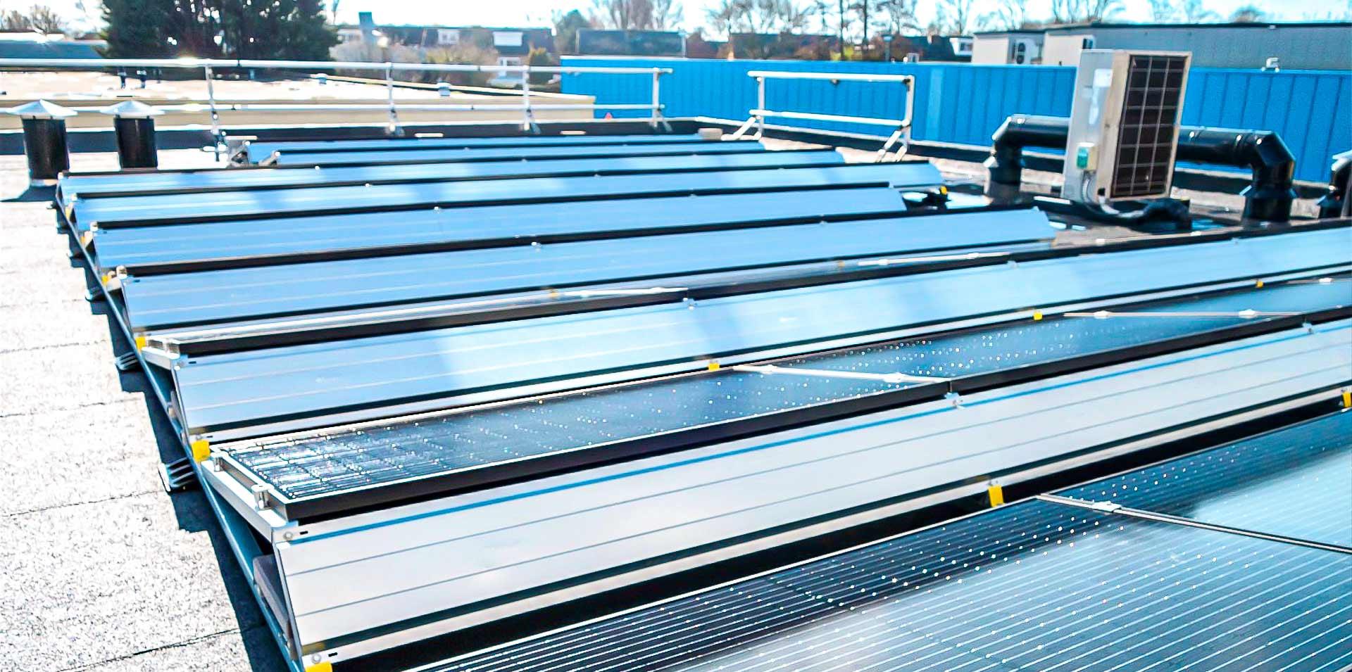 Zonnepanelen installateur VvE en zakelijk - zonnepanelen op dak bedrijfspand - Multi Energy Solutions